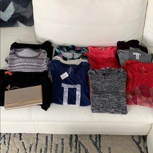 Starter Bundle 10 tops, 2 dresses, purse, mailers